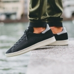 Мужские кроссовки Adidas Stan Smith Primeknit (white-black) - N10725