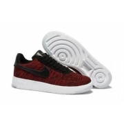 Мужские кроссовки Nike Air Force Flyknit low red - F10957