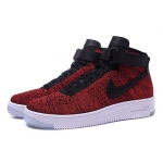 Мужские кроссовки Nike Air Force Flyknit red - F10961