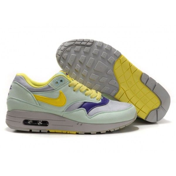 11df25be5 Женские кроссовки Nike Air Max 87 light turquoise - yellow - N008 ...